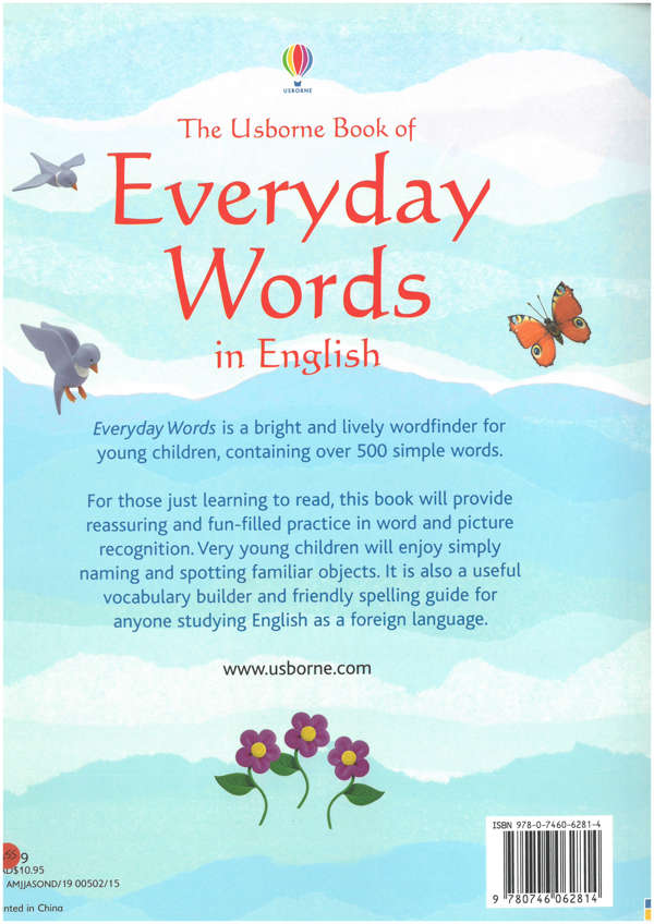 Everyday words in English